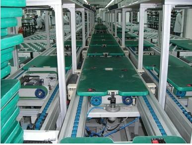 矩形工装板倍速链组装线